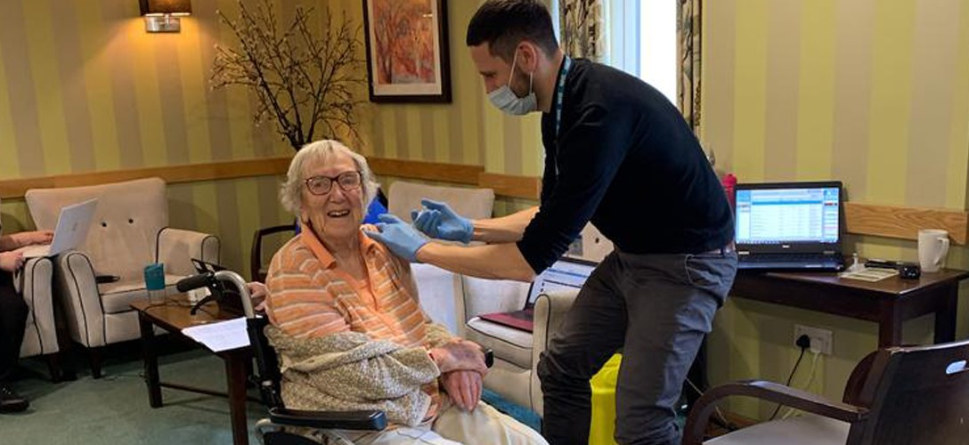 Abbey Healthcare Care Home received COVID-19 Vaccinations